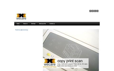 Screenshot of Home Page wecare-photocopy.com - Wecare Photocopy - Wecare Photocopying   Print Copy Scan - captured Oct. 6, 2014