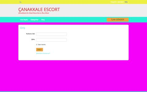 Screenshot of Login Page canakkalesolar.com - Login | ÇANAKKALE ESCORT - captured May 7, 2017