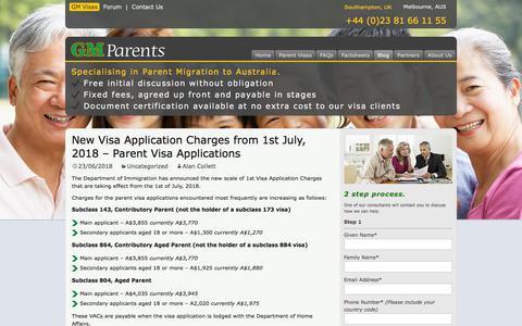 Screenshot of Blog gm-parent-visas.com - Blog | GM Parent Visas - captured Sept. 26, 2018