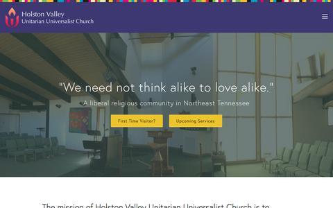 Screenshot of Home Page hvuuc.org - Holston Valley Unitarian Universalist Church - captured Aug. 24, 2017
