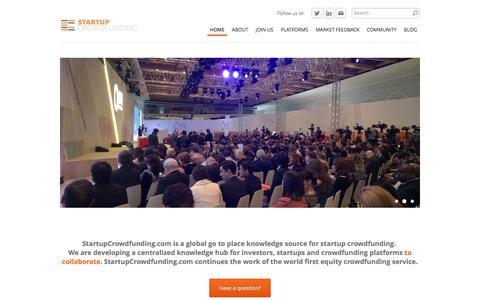 Startup Crowdfunding - Home