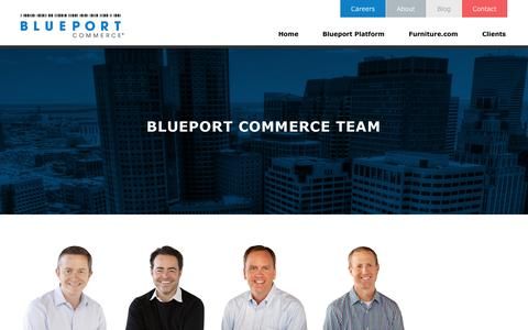 Screenshot of Team Page blueport.com - E-Commerce Technology and Services Provider for Furniture Retail - captured Sept. 23, 2014