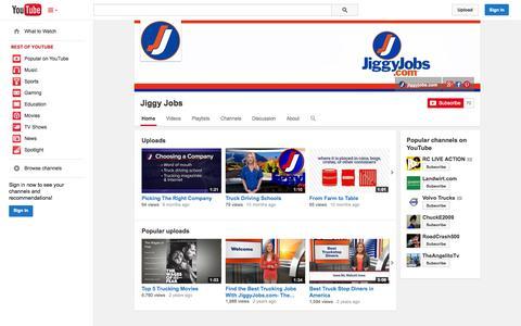 Screenshot of YouTube Page youtube.com - Jiggy Jobs  - YouTube - captured Oct. 23, 2014