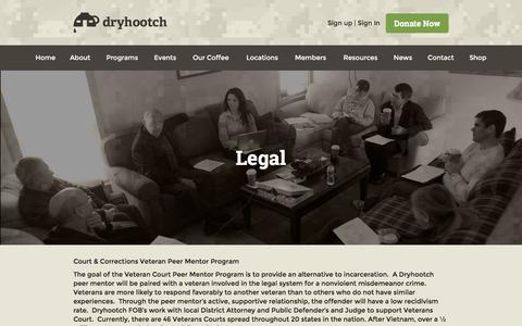 Screenshot of Terms Page dryhootch.org - Legal - Dryhootch - captured Feb. 9, 2016