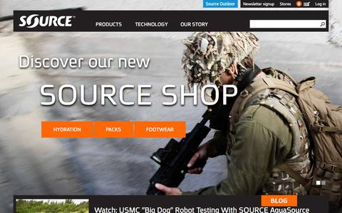 Screenshot of Home Page source-military.com - Source Tactical Gear - captured Sept. 18, 2014