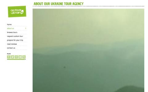 Screenshot of About Page activeukraine.com - About us >> Ukraine Tour Agency | Active UkraineActive Ukraine - captured Oct. 27, 2014