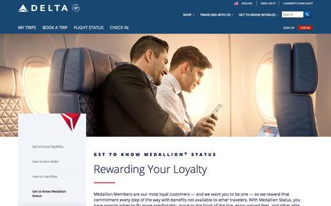 Delta Medallion Program : Delta Air Lines