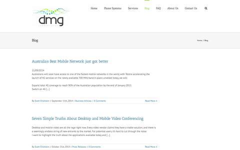 Screenshot of Blog dmgcommunications.com.au - DMG Communications – AVAYA – Telstra Business Partner   –  Blog - captured Sept. 30, 2014