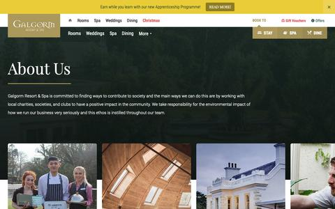 Screenshot of About Page galgorm.com - About Us | Galgorm Resort & Spa - captured Nov. 9, 2018