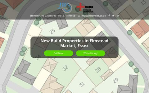 Screenshot of Home Page jwelectrics.co.uk - New Build Electrical Contractors | JW Electrics (Essex) Ltd - captured Sept. 20, 2018