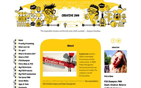 Screenshot of About Page wordpress.com - About | Creative Inn - captured Sept. 12, 2014