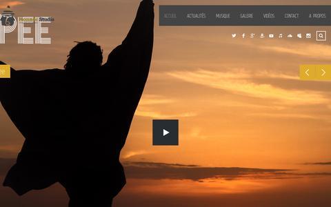 Screenshot of Home Page nomadestudios.com - Accueil - Nomade studios - captured Dec. 6, 2016