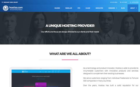 Screenshot of About Page hostiso.com - About - Web hosting for you - Hostiso LLC - captured June 22, 2017