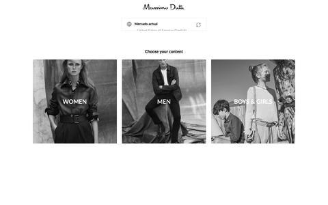 Screenshot of Home Page massimodutti.com - Massimo Dutti - Sitio Oficial - captured Feb. 20, 2019