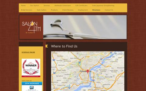 Screenshot of Maps & Directions Page salon4th.com - Salon on 4th - Directions - captured Oct. 27, 2014