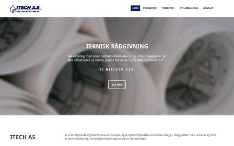 Screenshot of Home Page itech-as.no - Itech AS | Itech AS - captured June 17, 2015