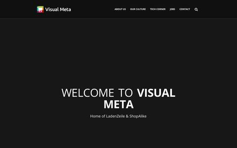 Screenshot of Home Page visual-meta.com - Homepage - Visual Meta GmbH - captured Dec. 16, 2018