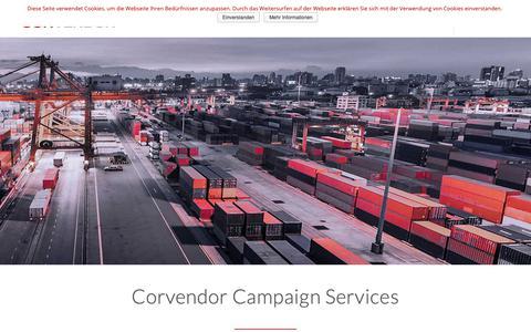 Screenshot of Services Page corvendor.com - Services - Corvendor GmbH - captured Sept. 29, 2018