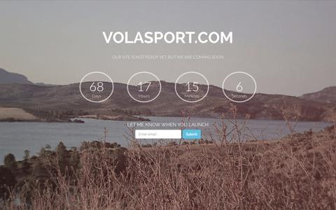 Screenshot of Home Page volasport.com - VOLASPORT.com | Coming Soon - captured Oct. 6, 2014