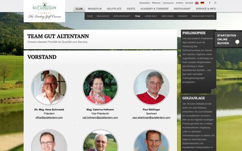 Screenshot of Team Page gutaltentann.com - Ihr Golfclub Gut Altentann: Das Team und ihre Ansprechpartner und Pros - captured May 24, 2018