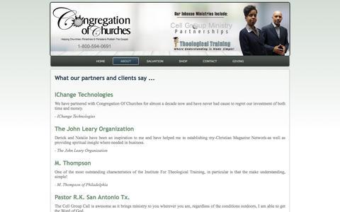 Screenshot of Testimonials Page congregationofchurches.org - testimonials - captured July 30, 2017