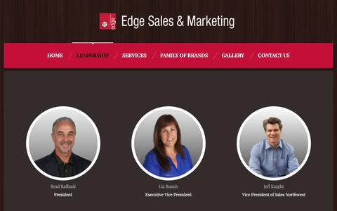 Screenshot of Team Page edgesales.com - Leadership – Edge Sales & Marketing - captured Sept. 27, 2018