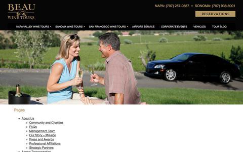 Sitemap - Beau Wine Tours & Limousine Service