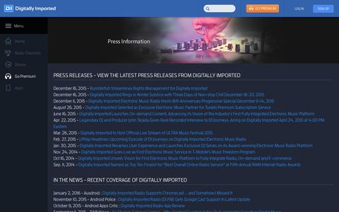 Screenshot of Press Page di.fm - Press - DI Radio - captured Jan. 13, 2016