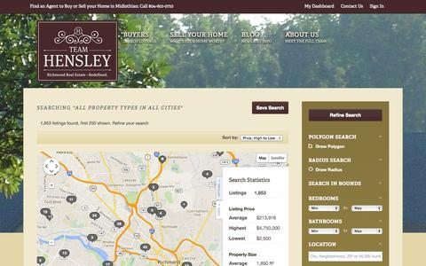 Screenshot of Maps & Directions Page teamhensley.com - All Property Types in Chesterfield & more... - captured Oct. 7, 2014
