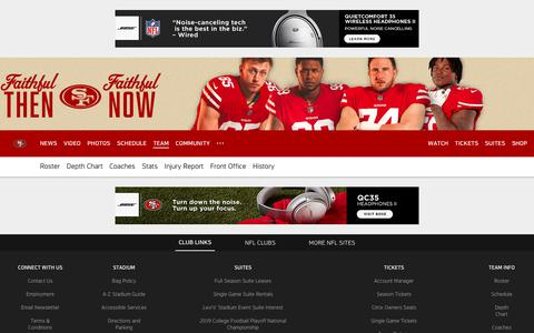 Screenshot of Team Page 49ers.com - 49ers.com | The Official Site of the San Francisco 49ers - captured Nov. 14, 2018