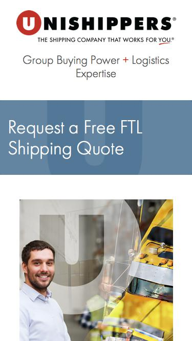 FTL Freight Shipping Quote - Unishippers
