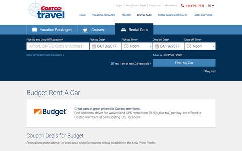 Budget Rent A Car at Costco Travel