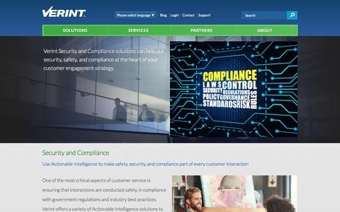 Security & Compliance | Verint Systems