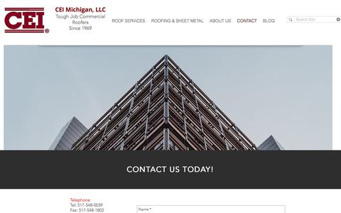Screenshot of Contact Page Hours Page ceigroupllc.com - ceimichigan | CONTACT - captured Sept. 25, 2018