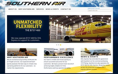 Screenshot of Home Page southernair.com - Southern Air                                       Home - captured July 12, 2014