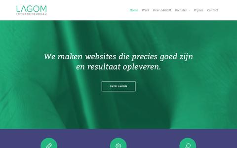 Screenshot of Home Page lagomdesign.nl - Home | LAGOM internetbureau - captured Oct. 1, 2014