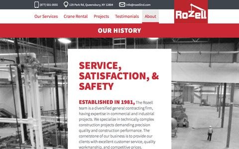 Screenshot of About Page rozellind.com - About - Rozell Industries - captured Feb. 15, 2016
