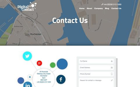Screenshot of Contact Page digitalcontact.co.uk - Get in touch with Digital Contact - captured Sept. 30, 2014
