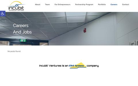 Screenshot of Jobs Page incubitventures.com - Careers | Incubit - captured Oct. 15, 2017