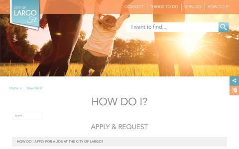 Screenshot of Contact Page largo.com - How Do I - captured Sept. 28, 2018