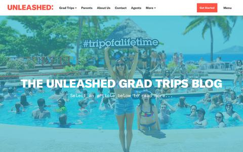 Screenshot of Blog unleashedtravel.com.au - Blog - Unleashed Grad Trips - captured Sept. 20, 2018