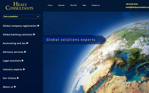 Screenshot of Home Page healyconsultants.com - Healy Consultants: Company registration, offshore formation - captured Sept. 22, 2014