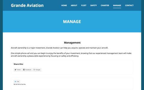 Screenshot of Team Page grandeaviation.com - Manage | Grande Aviation - captured July 17, 2016