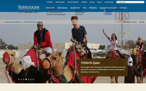 Screenshot of Home Page jburroughs.org - Home Page — John Burroughs School - captured Oct. 16, 2017