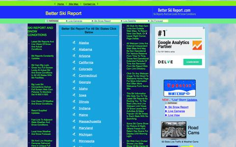 Screenshot of Home Page betterskireport.com - Your Guide to Ski Reports and Snow Conditions - captured June 13, 2016