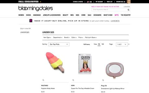 Best Gifts Under $25 - Bloomingdale's