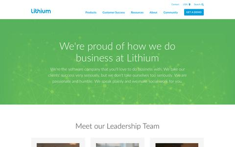 Screenshot of Team Page lithium.com - Lithium Leadership - Meet the Management Team - captured Nov. 29, 2018
