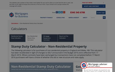 (1) Non-Residential Stamp Duty Calculator | Mortgages for Business