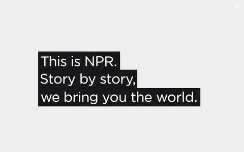 Screenshot of About Page npr.org - About NPR - captured July 18, 2014