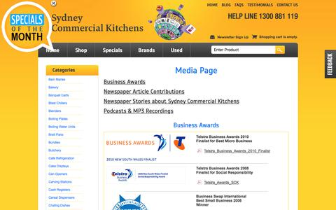 Screenshot of Press Page sydneycommercialkitchens.com.au - Media & Press Releases Sydney Commercial Kitchens, Catering equipment - captured Aug. 9, 2017